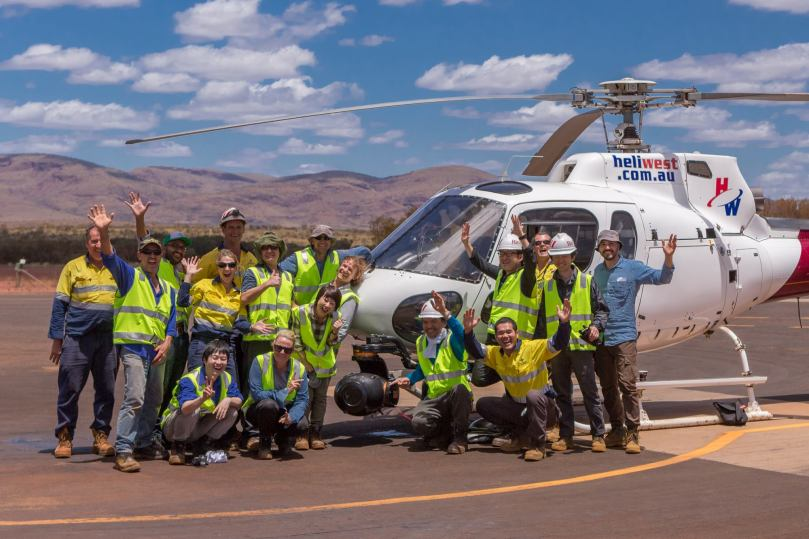 Mitsui & Co Aerial filming in Pilbara, Western Australia. February 2015